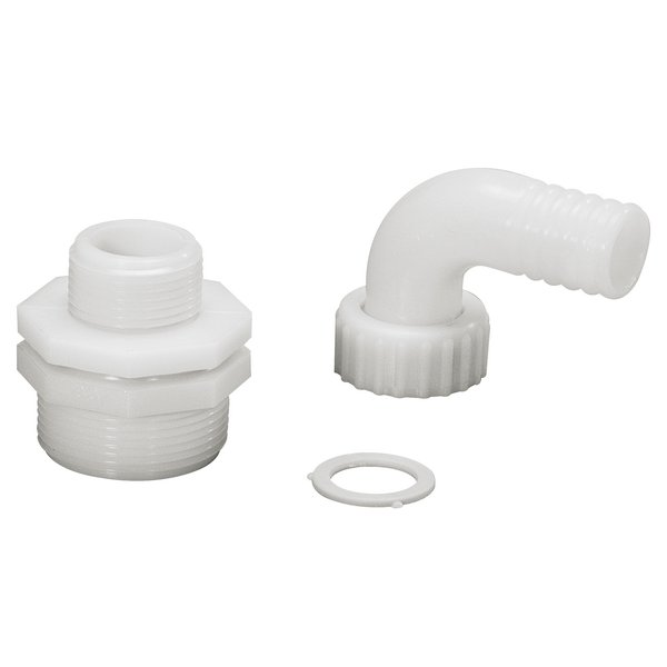 Optional curved fitting kit with 1'' 1/2 to 1'' reduction